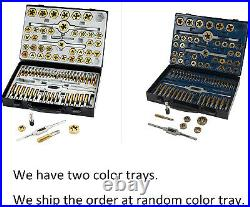 Muzerdo 86 Piece Tap and Die Set Bearing Steel Sae and Metric Tools, Titanium