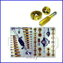 NEW 45pc Tap and Die Set Metric MM Tungsten Steel Titanium tools Jumbo