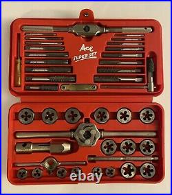NEW! Ace Super Hex Set of Taps and Dies Metric #6312