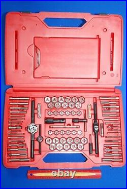 NEW Snap-On 117 Pc Fractional & Metric Tap and Die Set withExtractors & Drill Bits