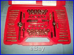 NEW Snap-on TDTDM500A 76-piece Tap and Die Set METRIC & SAE in Case Unused
