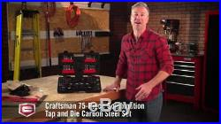 New CRAFTSMAN 75pc Piece Combination TAP and DIE Metric SAE Rust Resistant Steel