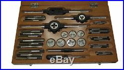 Rdgtools Complete Tap And Die Set Metric 2-10mm Taps Dies Wrenches Stocks