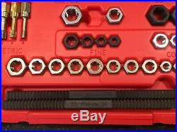SNAP-ON 48 Pc Master Rethreading Tap and Die SetSAE and MetricRTD48Nice Cond