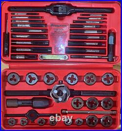 SNAP-ON TDM-117A METRIC COMBINATION TAP & DIE SET 41 PIECES Great Shape