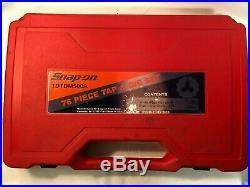 SNAP-ON TDTDM500A 76-PIECE TAP & DIE SET! Metric And Standard