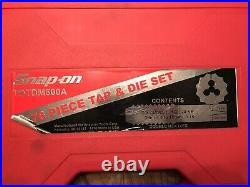 SNAP-ON TDTDM500A Master 76-PIECE TAP & DIE SET! Metric And Standard Like New