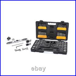 Sae Metric Ratcheting Tap Die Set 75Piece Spring Loaded Cap Allows Quick Release