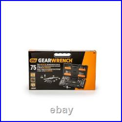 Sae/metric ratcheting tap and die set (75-piece)