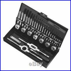 Sealey AK3015HSS Tap & Die Set 32pc Split Dies HSS 4341 Metric
