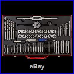 Sealey AK3076 76 Piece Tap & Die Set Metric Fine & Coarse Metal Case
