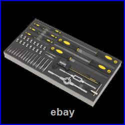 Sealey S01132 48 Piece Tool Tray with Tap & Die, File & Caliper Set
