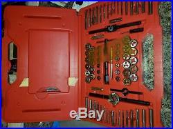 Snap-On 117pc Master Tap & Die Set w Drill Bits TDTDM117A Metric & Standard