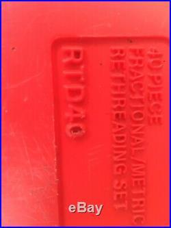 Snap On Rethreading Tap & Die Set Rtd40