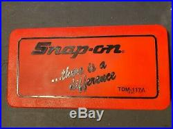 Snap-On TDM-117A Metric Tap and Die Set. Used. Missing 1 piece