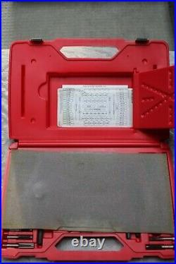 Snap On TDTDM500A 76PC Tap & Die Set used