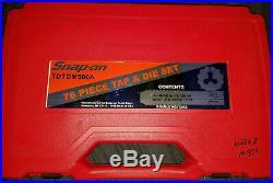 Snap On TDTDM500A 76 Piece SAE Metric Tap & Die Set