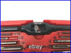 Snap-On Tools 41 Piece Metric Tap & Die Set Dia 3mm-12mm Pitch 0.5-1.75 TDM117A