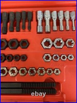 Snap On Tools 48 Pc SAE & Metric Master Rethreading Tap & Die Set RTD48