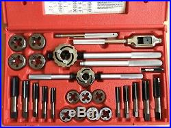 Snap On Tools TDM99117A 25 Piece Metric Tap & Die Set Complete Storage Case USA
