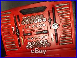 Snap On tdtdm500a tap/die set sae/metric NEW & 2 new ratchets snap on