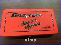 Snap-on TDM117A 41-piece 3 to 12 mm NF / NC METRIC Tap and Die Set Missing One