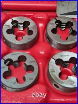 Snap-on Tools 24 Piece Mertic Tap & Die Set TDM99117A With Case. MISSING