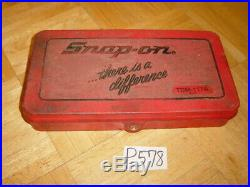 Snap-on Tools Automotive Metric Tap & Die Set In Red Case 41 Piece Tdm117a