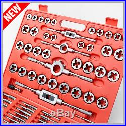 TAP AND DIE Set 110 piece METRIC withCase Screw Extractor Remover Chasing NEW