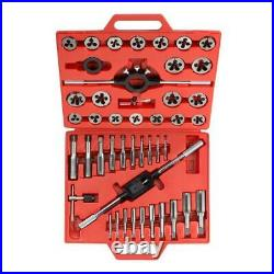 TEKTON 7561 Metric Tap And Die Set (45-Piece) Tungsten High Speed Steel with Case