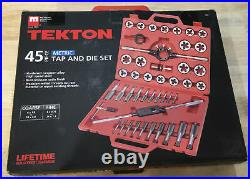TEKTON 7561 Metric Tap And Die Set, 45-Pieces -Tungsten High Speed Steel with Case
