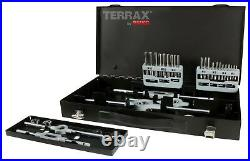 TERRAX 37pcs. Thread Cutting Tool Set HSS M3 M12 in metal case MADE IN GERMANY
