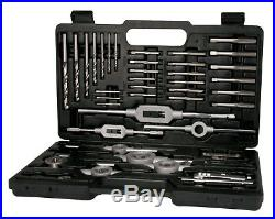 TERRAX 45pcs. Thread Cutting Tools Set M3 M12 HSS Hand Taps & Round Dies