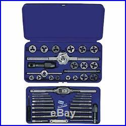 Tap And Die Set Metric Hanson USA Threading Tool Auto Mechanic Repair Work 41Pcs