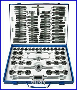 Tap & Die Set 110 pieces, metric, M2 to M18, 2 tap wrenches, 2 die holders 488129