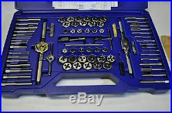 Tap and Die Super Set 76 Pcs #4 to1/2 Fraction, Metric Pipe, Made in USA IRWIN