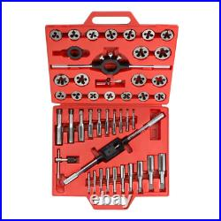 Tekton Metric Tap and Die Set Hand Tool Storage Case Milled Alloy Steel 45 Piece