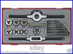 Teng Tools 17 Piece Metric Tap & Die Rethreading Set Modular Tray TTTD17