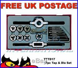 Teng Tools TTTD17 17pc Rethreading Tap & Die Set NEW