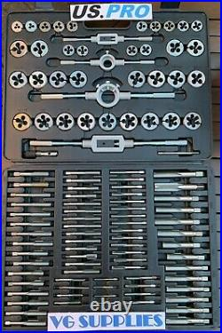 US PRO Tools 110PC METRIC TAP AND DIE SET 2514 NEW