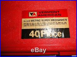VERMONT AMERICAN 6596 TAP AND DIE SET 40 PC metric