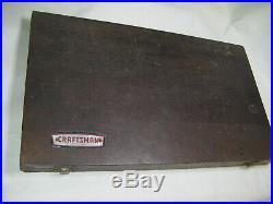 Vintage Craftsman 50 Pc Kromedge Tap and Die Set Original Box