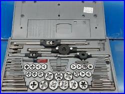 Vintage Sears Craftsman 52373 Tap & Hex Die Set Metric Excellent Condition