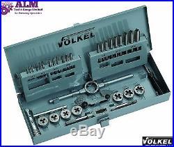 Volkel Germany Quality HSS Metric Tap & Die Set M3-M12 Metal Box